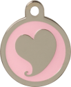 Heart Pink & Silver Pet Tag
