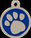 Pawprint Blue Pet Tag