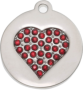 Honey Bling Heart Pet Tag