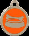 Bone Bowl Orange Pet Tag