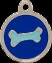 Bone Two Tone Blue Pet Tag