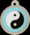 Ying Yang Blue Pet Tag